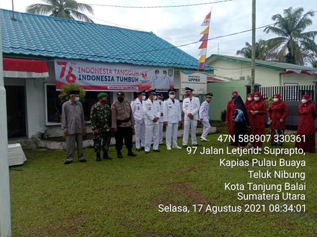 Personel Jajaran Kodim 0208/Asahan Laksanakan Upacara Peringati HUT RI Ke-76