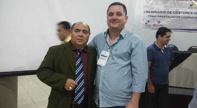 Presidente da Câmara Municipal de Mata Roma, Tiago Sousa, participa do I Seminário de Gestores do Estado do Maranhão.