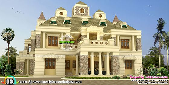 Luxury bungalow style Colonial Indian home