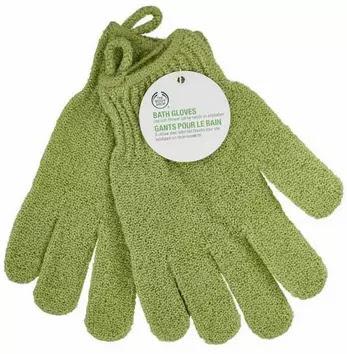 Body shop bath gloves