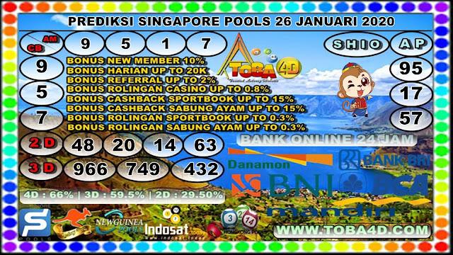 PREDIKSI SINGAPORE POOLS 26 JANUARI 2020