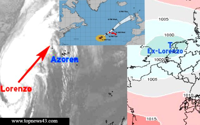 [Update] Hurricane Warning For Azores [Lorenzo] Is Active