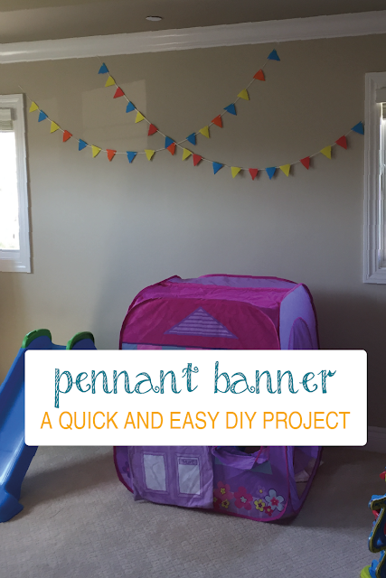 Quick and Easy Colorful Pennant Banner | www.sprinkledwithcolor.com