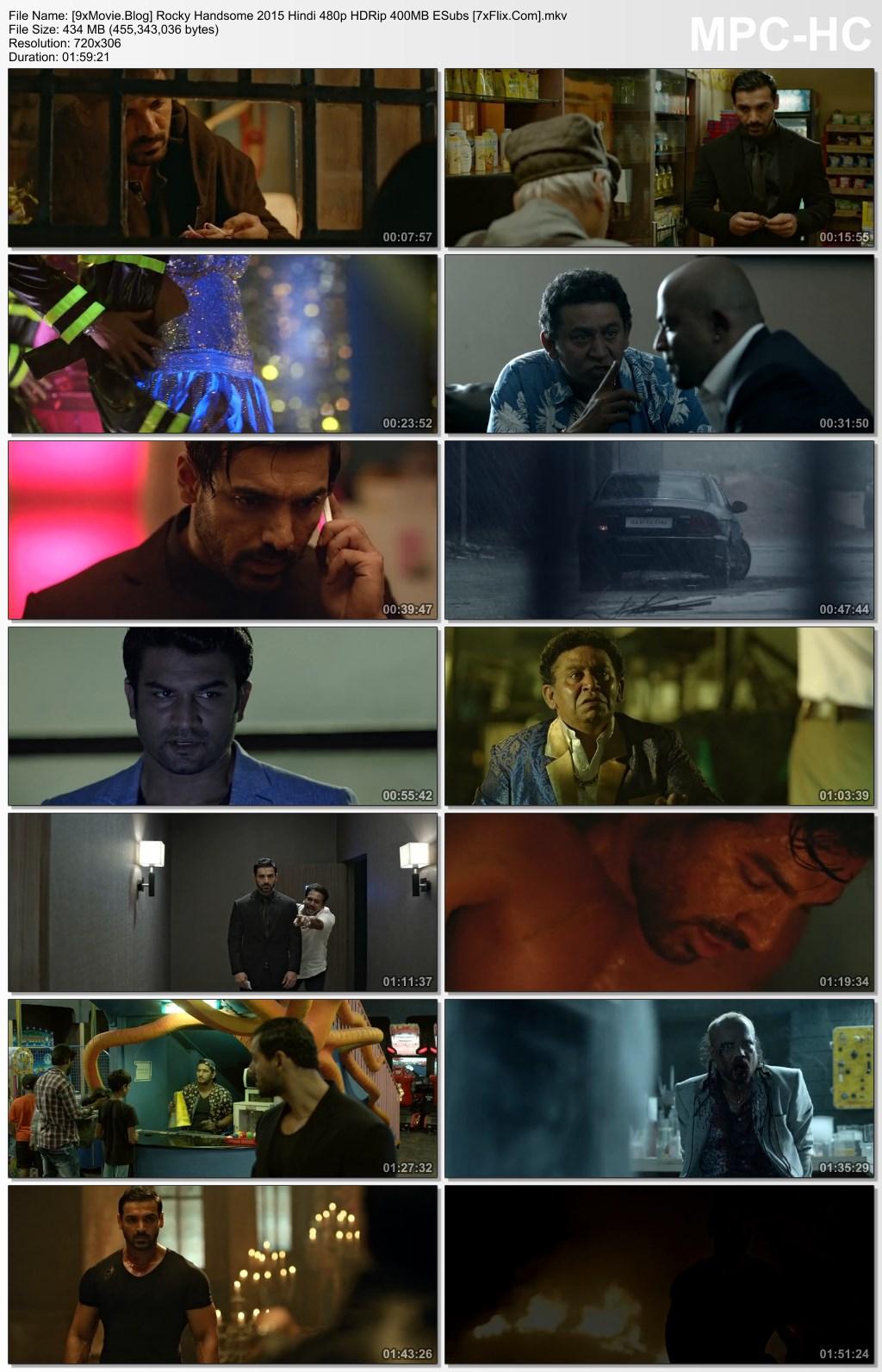 Rocky Handsome 2016 Hindi 480p HDRip x264 400MB ESubs