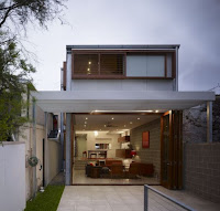 Small contemporary exterior house design example