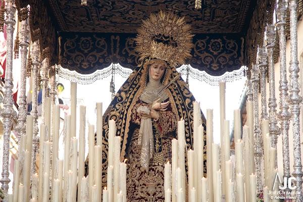 Traslados de la María Santísima de los Dolores a los Jardines de la Atalaya (Jerez de la Frontera 03/10/2021): Horarios e Itinerarios