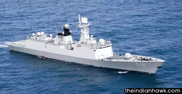 Chinese Navy ships in the ocean