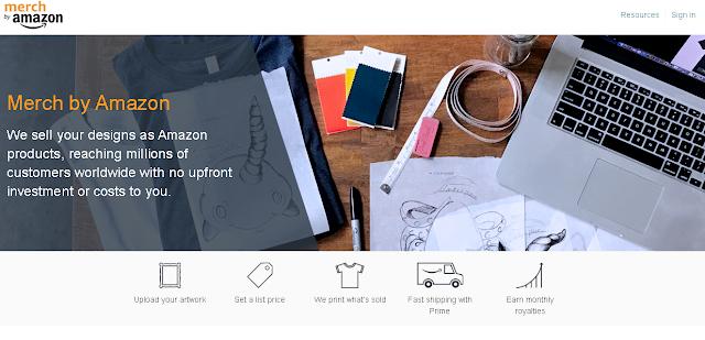 Cara Jual Desain Kaos di Amazon Merch Dengan Mudah