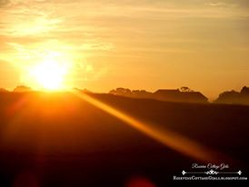 Seek me | Photo of a Sunrise over the country pastures | rosevinecottagegirls.com
