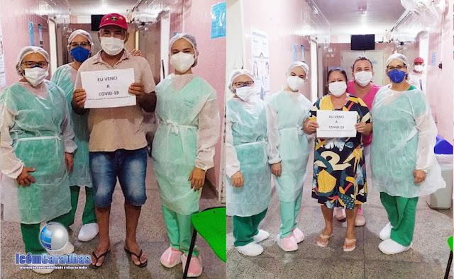 Mais dois pacientes vencem a Covid-19 no Hospital Regional de Caraúbas