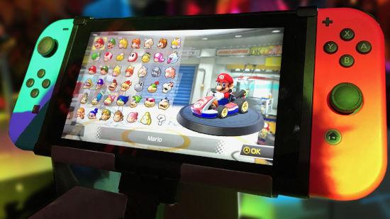 Console Nintendo Switch Avec Un Jeu Mario - Full HD 1080p