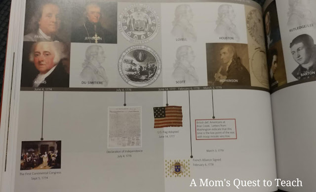 photo of the timeline inside the book The Hidden Message of the Great Seal