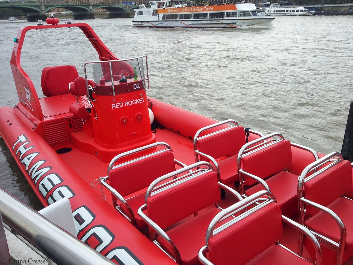 Jet Boating, an unusual way to see London.