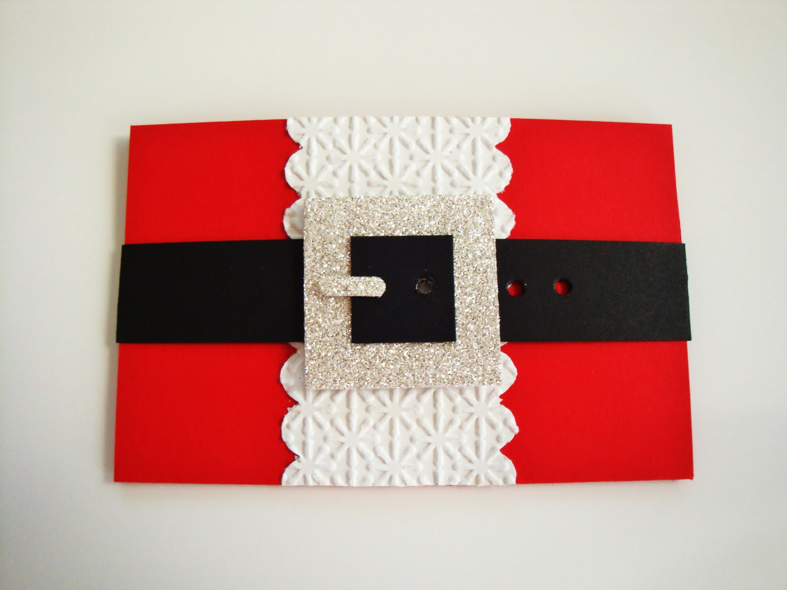 Penguinstamper santa suit gift card holder for Door xmas card holders