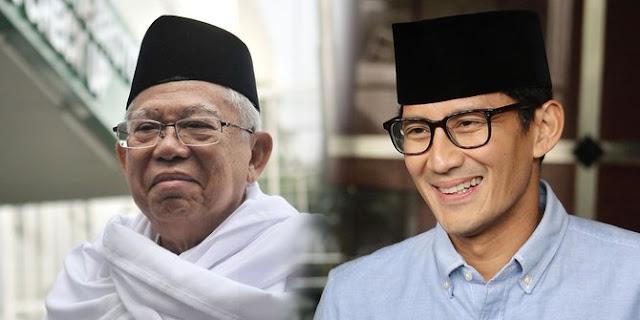 Sandi Aset bagi Prabowo Subianto, Ma'ruf Amin Beban bagi Joko Widodo