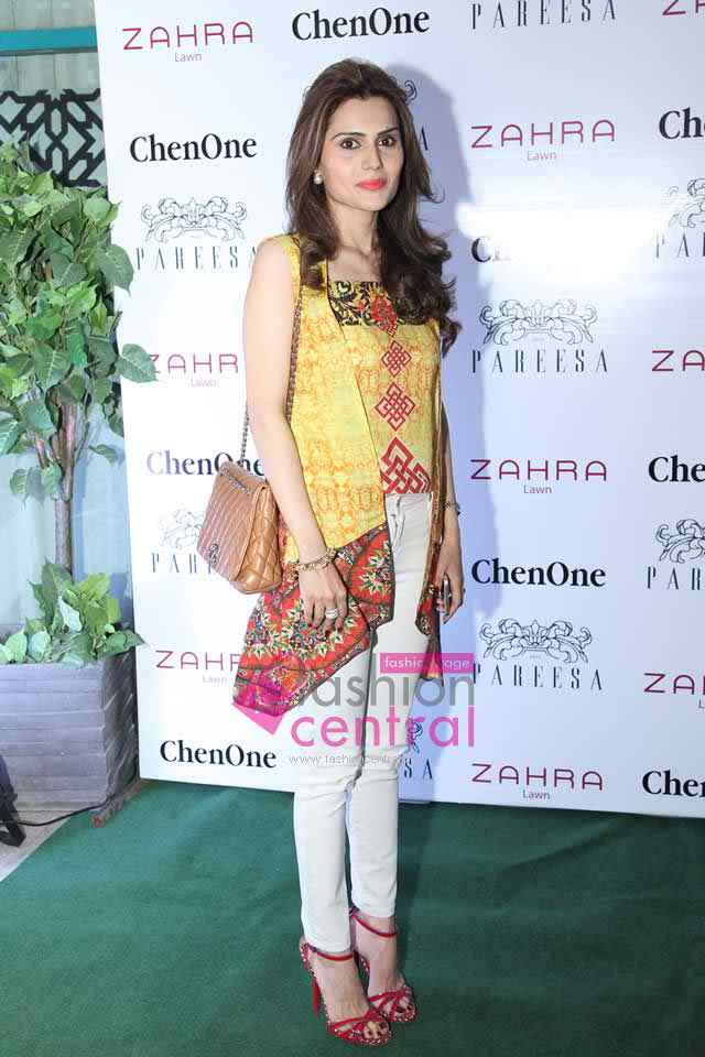 Launching of Zahra and Pareesa Lawn Cummer Colletion 2016