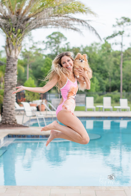 print your pet on a bathing suit, swimwear, inspiration, photography, jump photo, jump man, pomeranian, speedo, beach towel, shopping bag, pets, pet bathing suit, dog swimsuit, one piece, cute, unique, smile, fit,best swimsuit ever, Petflair, one piece, pink, dog, dog lovers, pomeranian, pool, Florida, Australia, Pound Paws, donates,