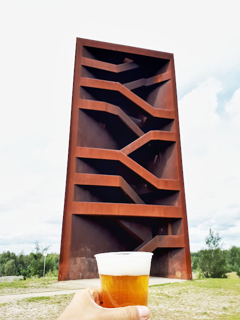 Rostiger Nagel aka Rusty Nail view tower over Sedlitzer See in Lusatian Lakeland