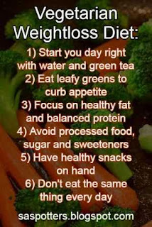 Diet tips for vegetarians for weight loss