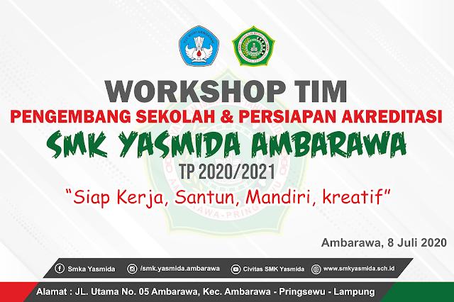 Desain Banner Workshop Tim Pengembang Sekolah | SMK Yasmida