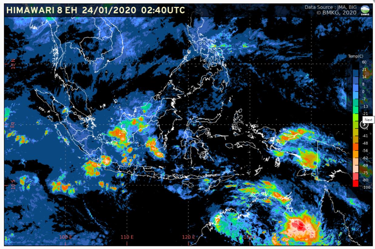 Waspada Potensi Hujan Lebat pada 24-29 Januari 2020