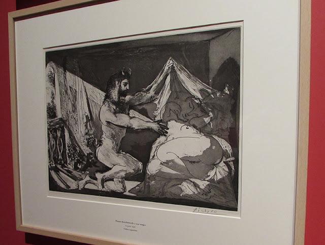 uma das gravuras da exposição Suite Vollard