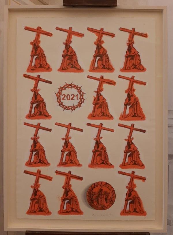 La Corona presenta el cartel del Vía Crucis, obra de Ricardo Suárez