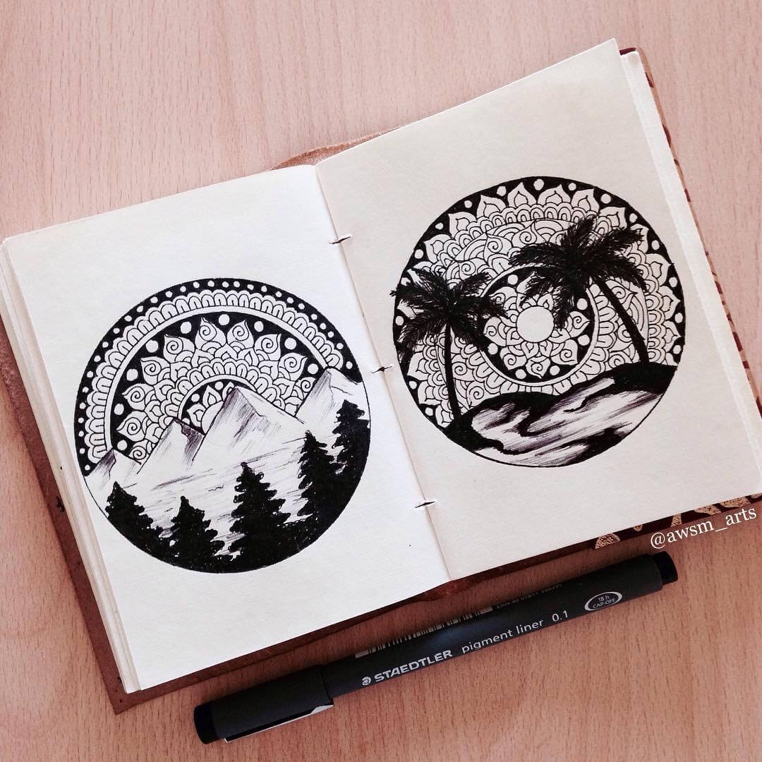 07-Landscapes-Moleskine-Mandalas-Drawings-and-More-www-designstack-co