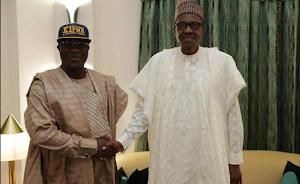 Veteran Fuji Musician K1 Endorses President Buhari For 2nd Term (Pics)