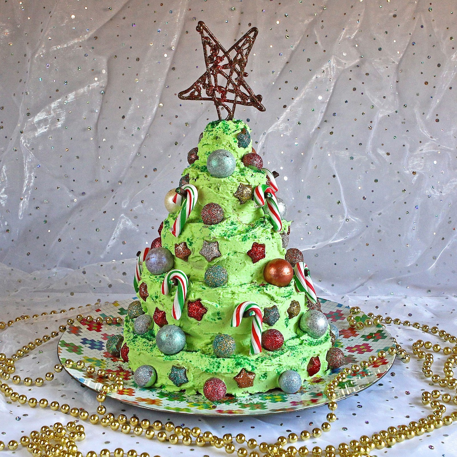 Gluten Free Alchemist Layered Chocolate Mint Christmas Tree Cake