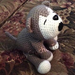Crochet Pattern | Baby Wolf Howling