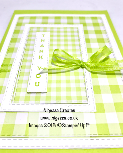 #stampinforall Sketch Challenge using Stitched Rectangles Nigezza Creates