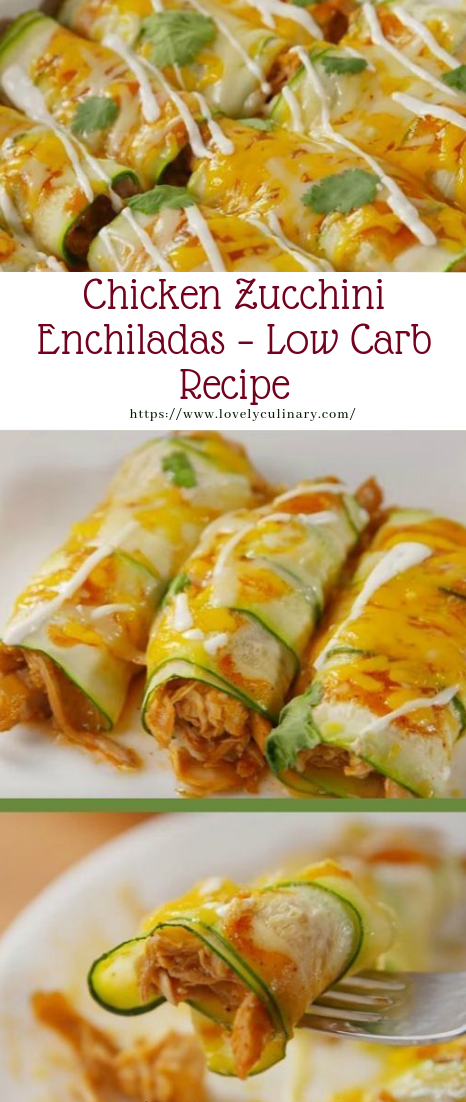 Chicken Zucchini Enchiladas – Low Carb Recipe #recipe #vegan