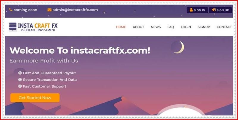 Мошеннический сайт instacraftfx.com – Отзывы, развод, платит или лохотрон? Мошенники