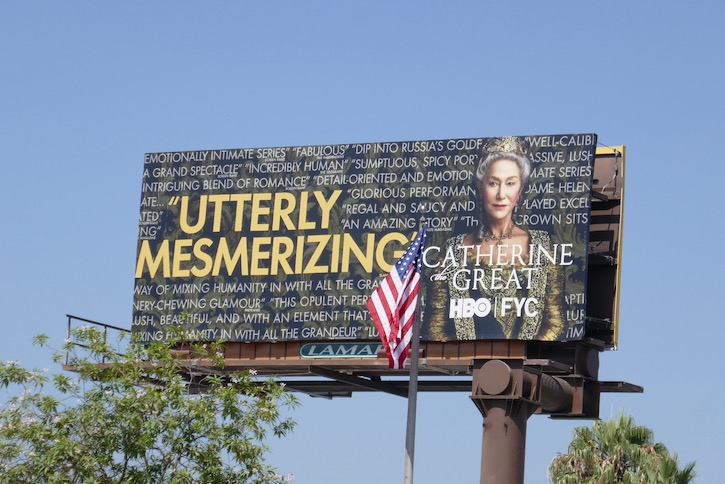 Catherine the Great Emmy FYC billboard