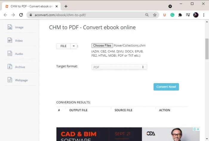 Cách chuyển CHM sang PDF trong Windows 11/10