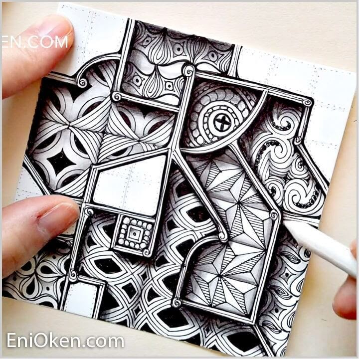 06-Fragmented-Windows-Eni-Oken-Ink-and-Pencil-Fantasy-and-Zentangle-Drawings-www-designstack-co