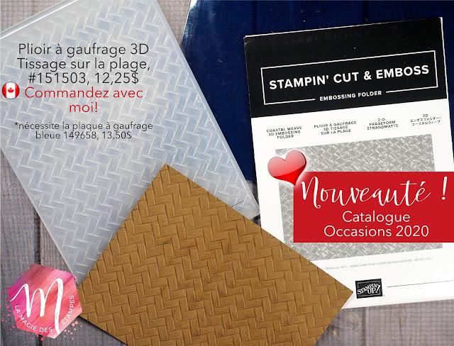 Nouveaux plioirs à gaufrage Stampin' Up! mini catalogue 2020