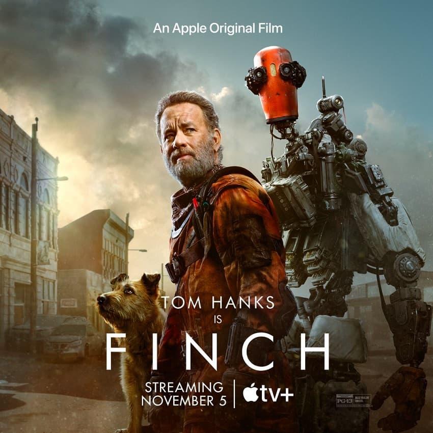 Apple TV+ показал трейлер фантастической драмы «Финч» с Томом Хэнксом в главной роли - Постер