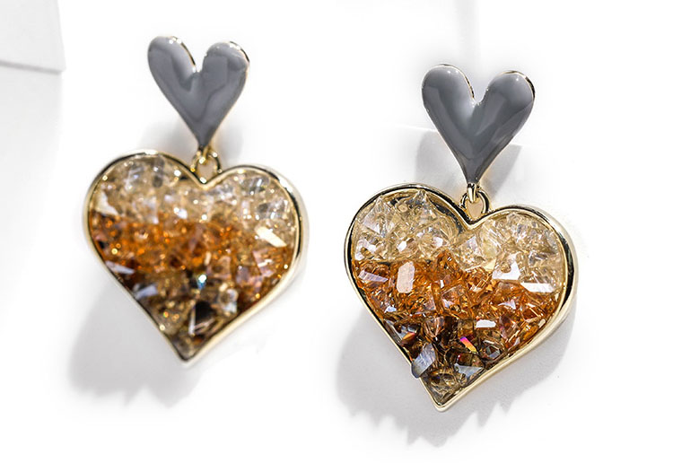 愛的能量三色水晶耳環