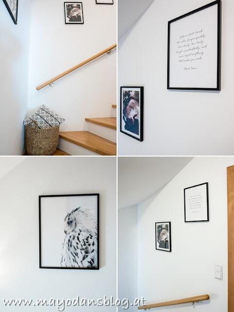 Dekorationsideen für den Treppenaufgang
