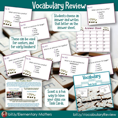 https://www.teacherspayteachers.com/Product/Vocabulary-Task-Cards-Prefixes-Suffixes-Antonyms-Synonyms-and-Abbreviations-251032?utm_source=Reviewing%20Blog%20Post&utm_campaign=Vocab%20Review