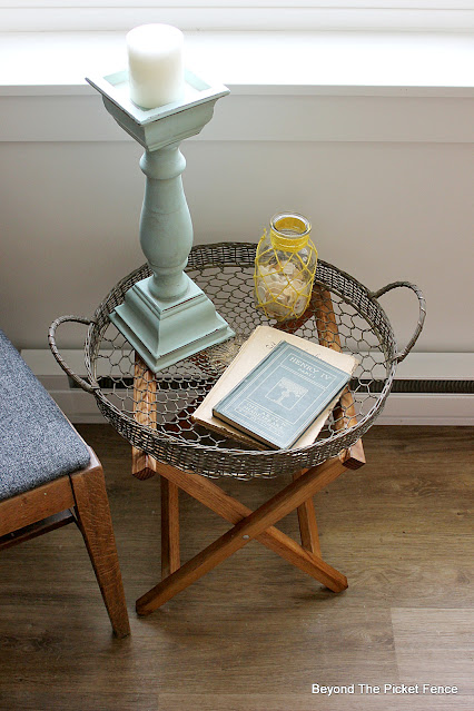 Thrifty Thursday Reporposed Tray and Camp Stool