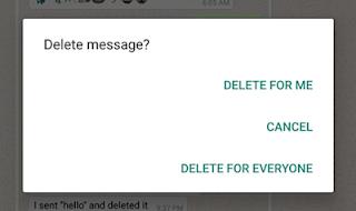 Cara padam mesej yang tersalah hantar di Whatsapp