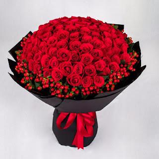Bunga Mawar Valentine di Kebon Jeruk Jakarta Barat