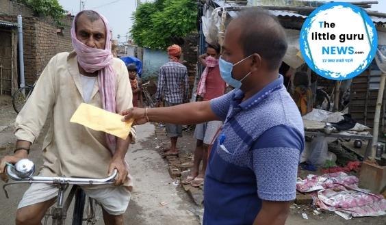 भारतीय जनता पार्टी के केसरिया मंडल अध्यक्ष एवं सांसद के द्वारा मास्क, साबुन और नेपकिन का कराया गया वितरण