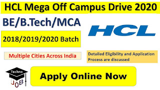 HCL Mega Pool Campus Drive At GIST, Nellore, Andhra Pradesh for BE/ B.Tech/M.Sc/MCA Candidates