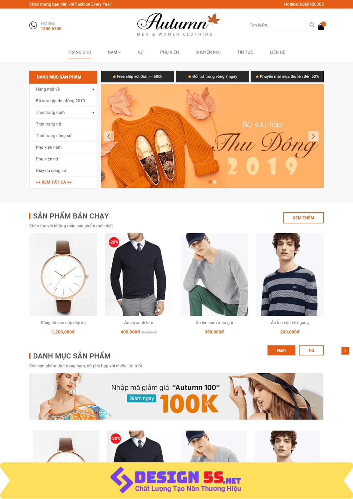 Template blogspot bán hàng thời trang phụ kiện hiện đại VSM05