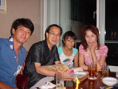Three generations at karaoke in Osaka, Japan