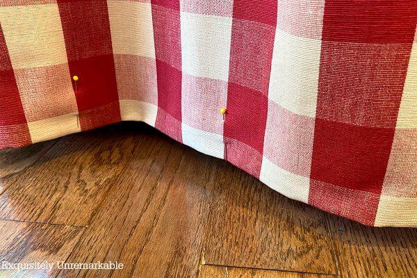 Pinned Curtain Hem